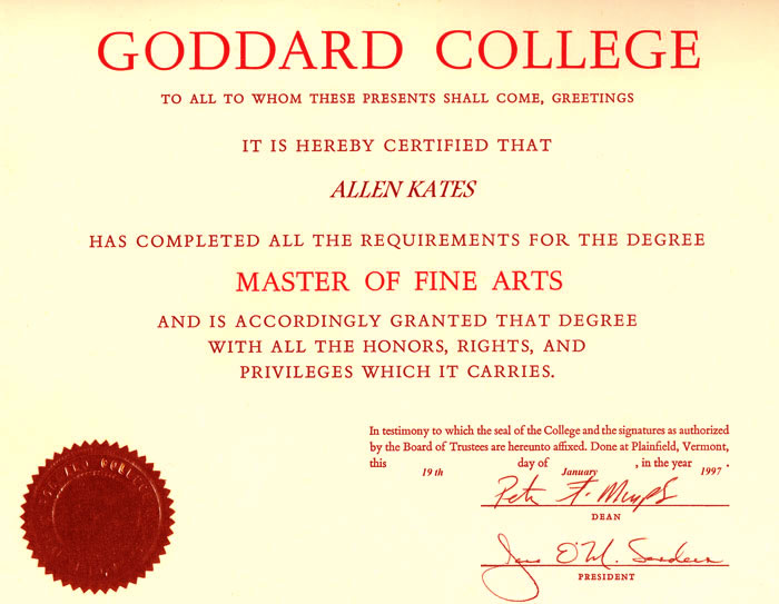 Masters In Fine Arts Creative Writing